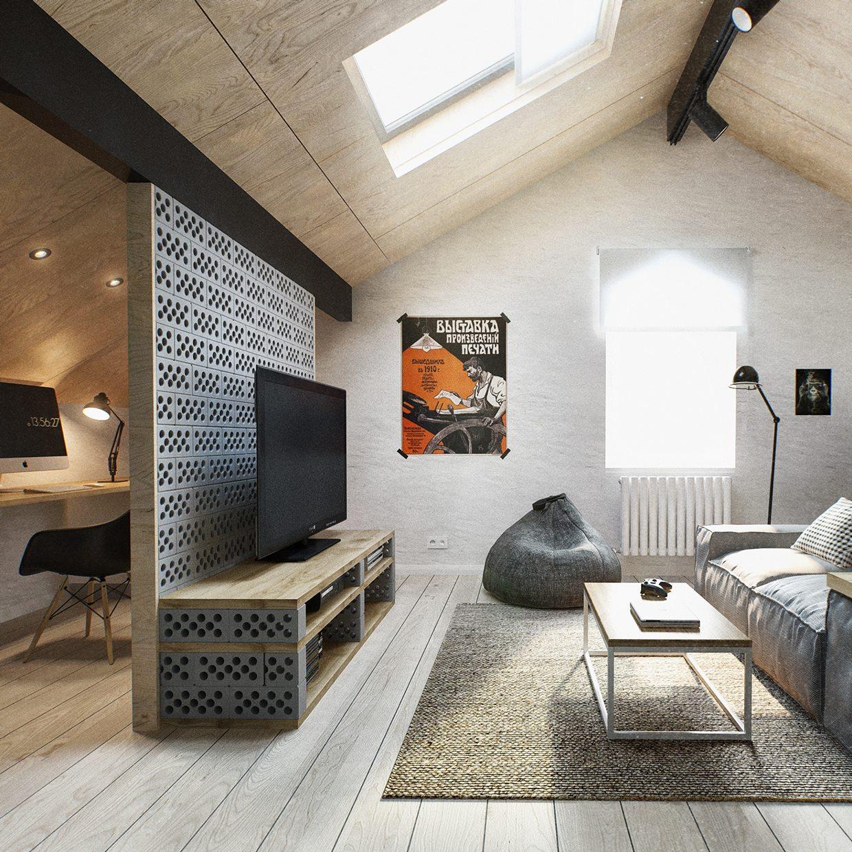 Duplex Penthouse With Scandinavian Aesthetics & Industrial