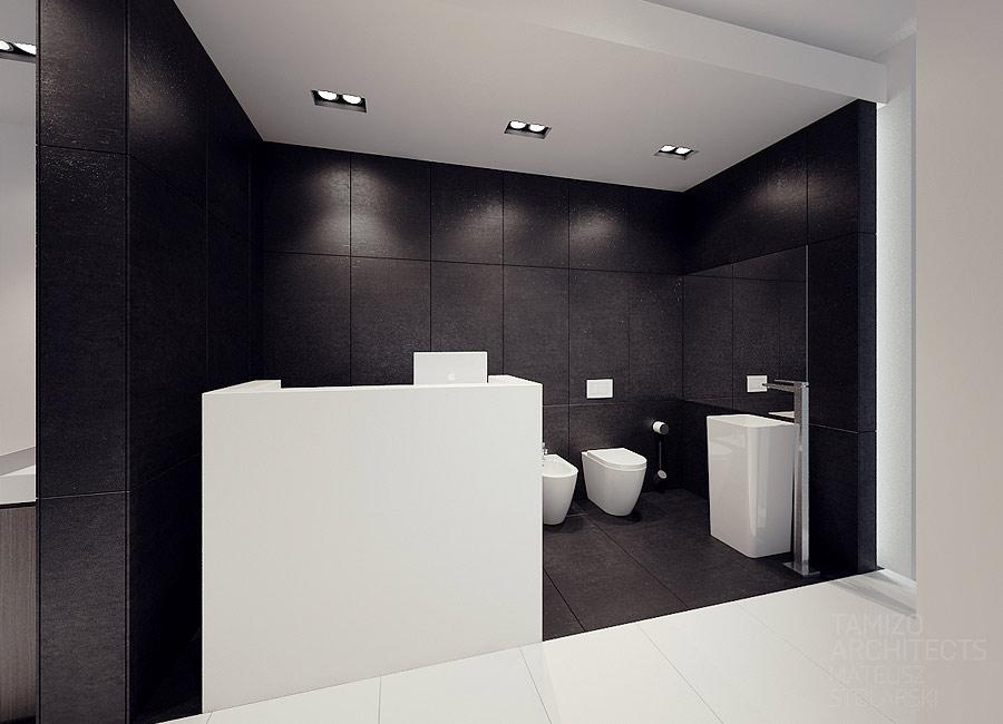 Creative bathroom design tamizo the masters of black white design