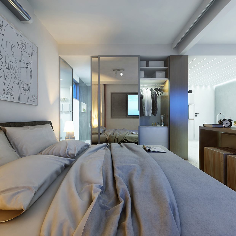 2 super small apartments under 30 square meters for Monolocale 35 mq