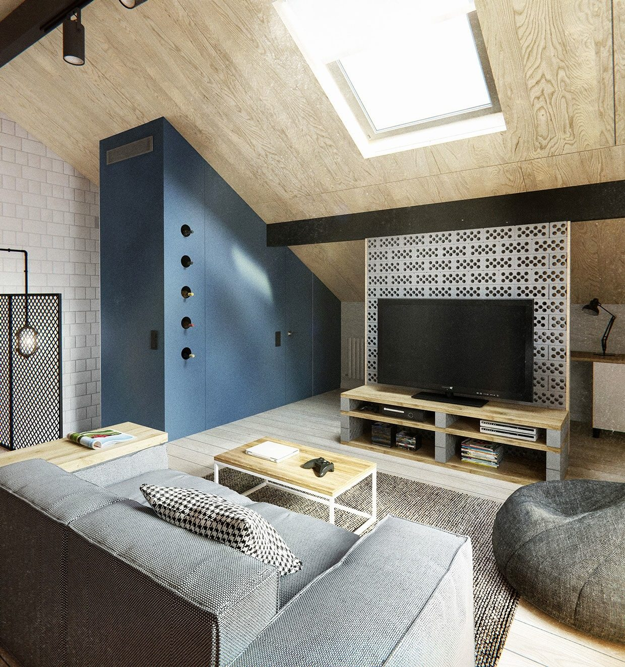 Slanted Ceiling Design Interior Design Ideas