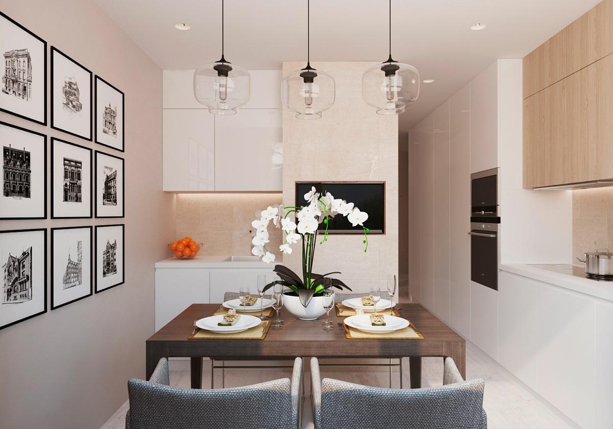 Pedestal Dining Room Table Warm Modern Interior Design