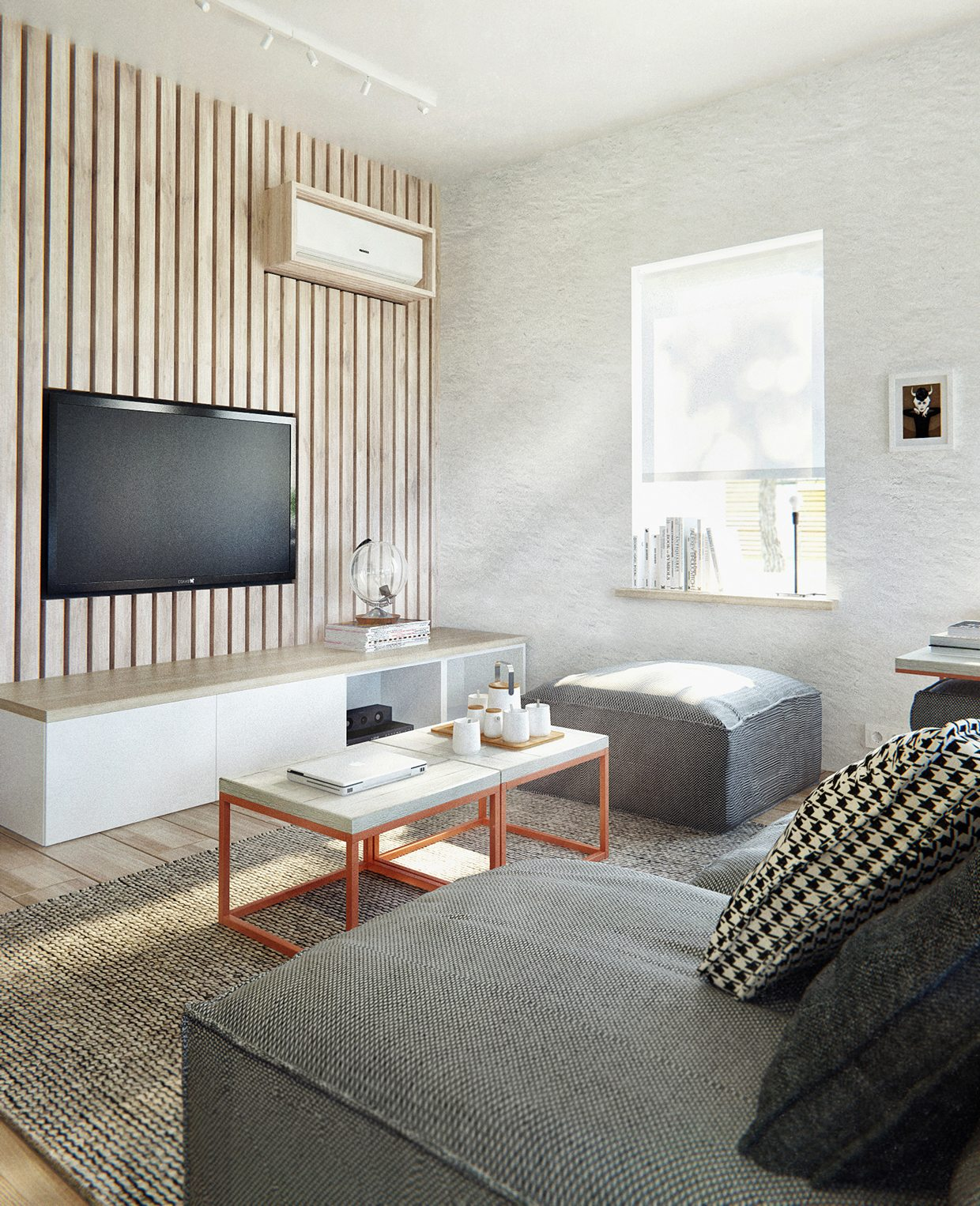 Designing On Wall: Duplex Penthouse With Scandinavian Aesthetics & Industrial
