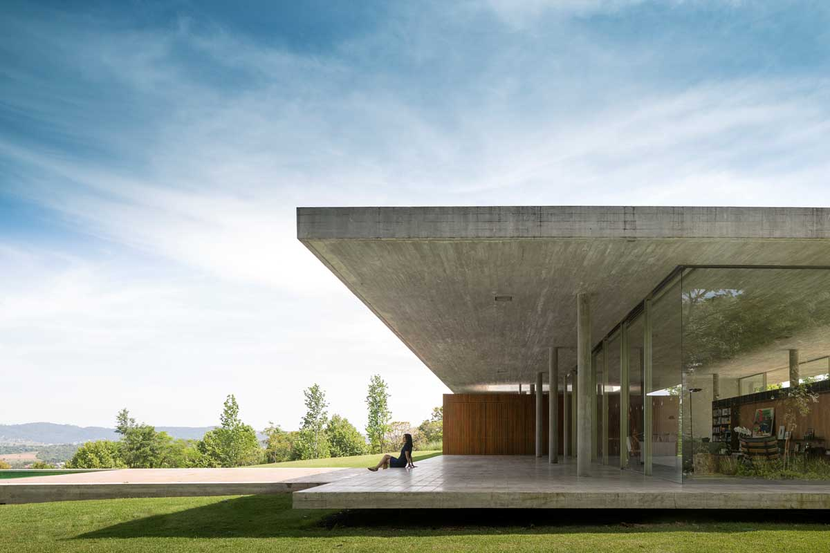 Concrete House Terrace Design Interior Design Ideas