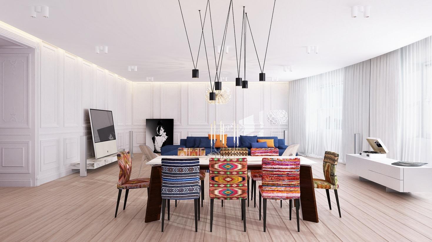20 modern dining rooms for inspiration. Black Bedroom Furniture Sets. Home Design Ideas