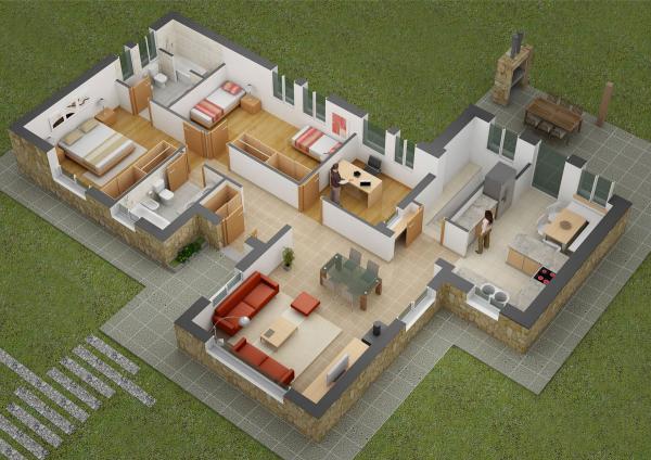Chỉ để chứng minh rằng hai phòng ngủ không có nghĩa là bất kỳ sự hy sinh, hãy nhìn vào nhà hai phòng ngủ rộng rãi này.  Với một phòng ngủ và một không gian chung lớn cho anh chị em, cộng với một nhà bếp khổng lồ và một sân sau lớn, điều này là rất nhiều nhà cho một gia đình ba với chỗ để phát triển.