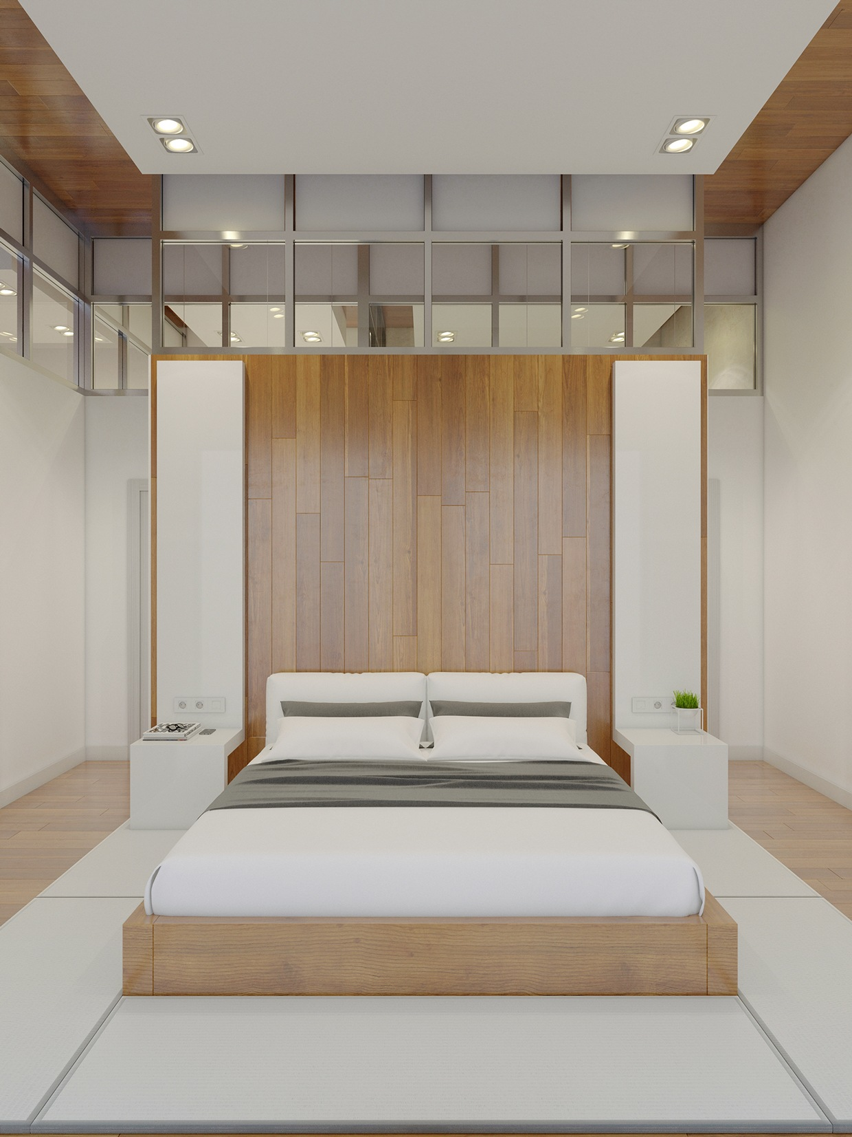 12 Stunning Bedroom Paint Ideas For Your Master Suite: High Rise Apartment With Stunning Minimalist Interior