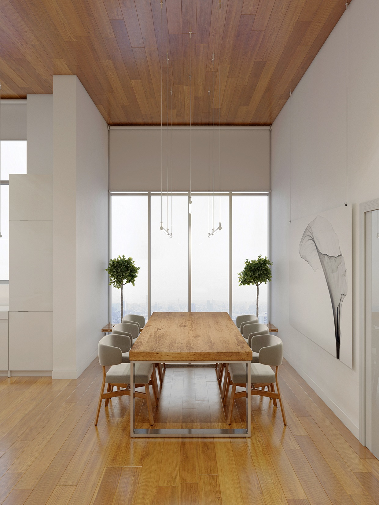 28 Simple Dining Room Ideas For A Stunning Inspiration: High Rise Apartment With Stunning Minimalist Interior