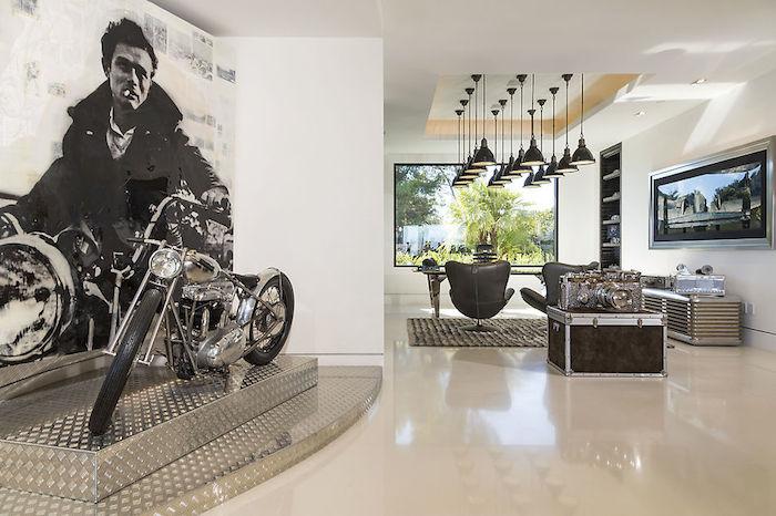 Motorcycle Display Interior Design Ideas
