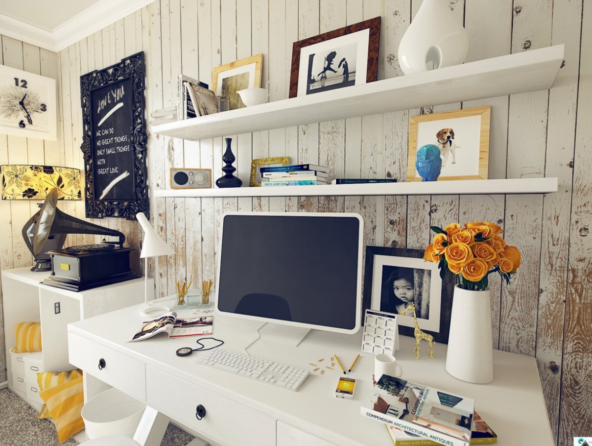 Shabby Chic Home Office Interior