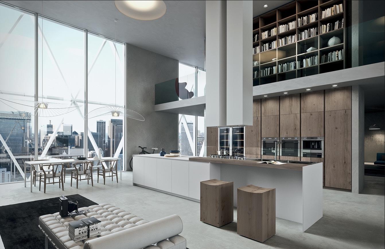 7 inspirational loft interiors for Case moderne interni cucine