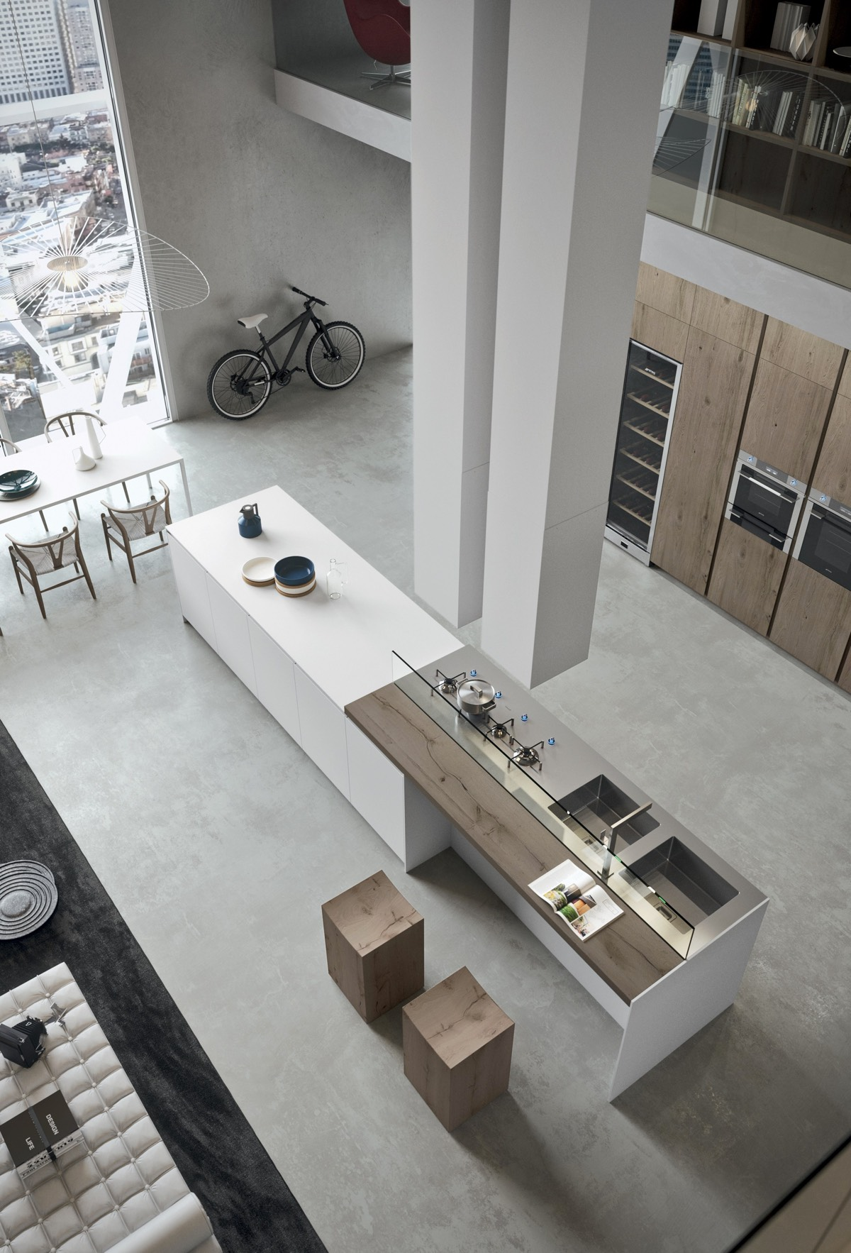 7 inspirational loft interiors. Black Bedroom Furniture Sets. Home Design Ideas