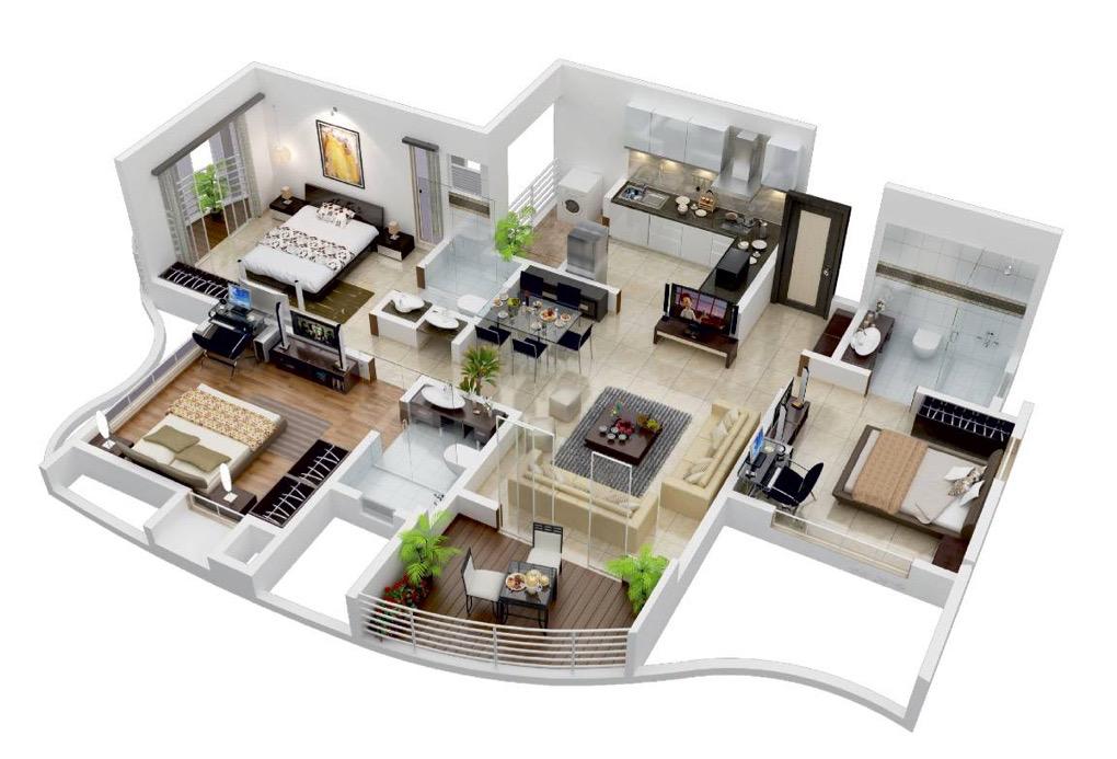 25 More 3 Bedroom Floor Plans