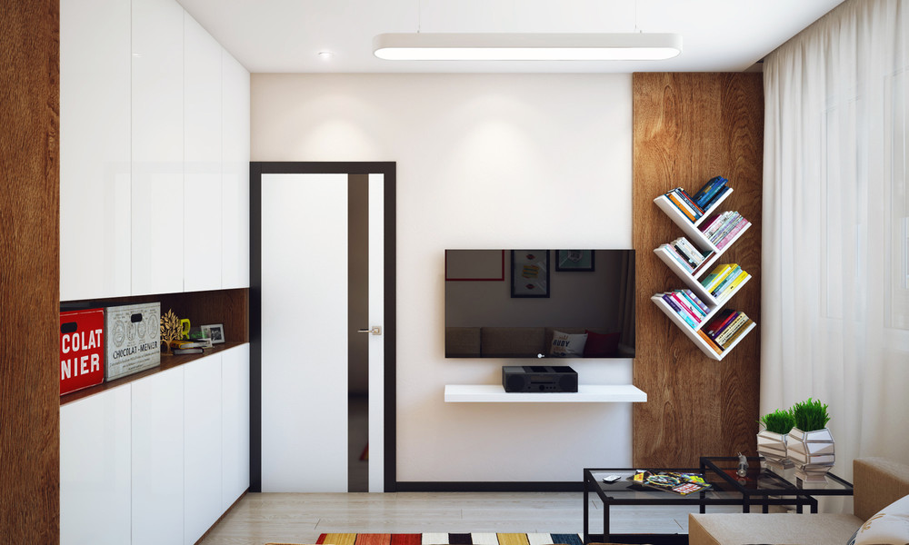 10 Clever Creative Shared Bedrooms Part 2: Minimalist 1 Bedroom Apartment Designed For A Young Man