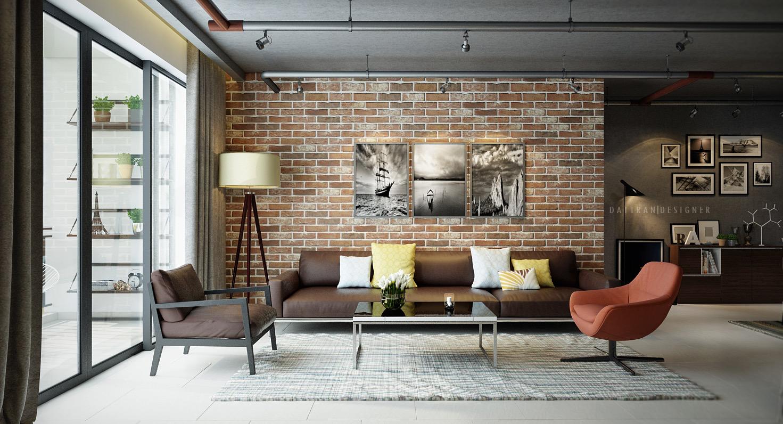 Exposed Brick Wall Living Room Ideas