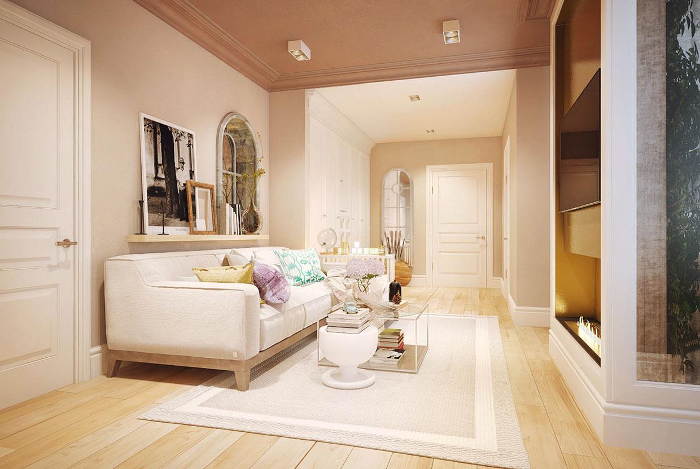 Feminine Living Room Interior Design Ideas