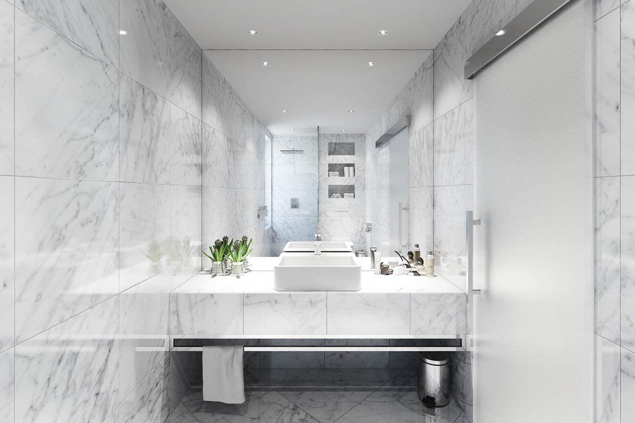 Marble Bathroom Ideas To Create A Luxurious Scheme: 5 Posh Apartment Interiors