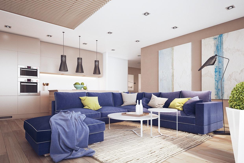 Midnight Blue Sofa Interior Design Ideas