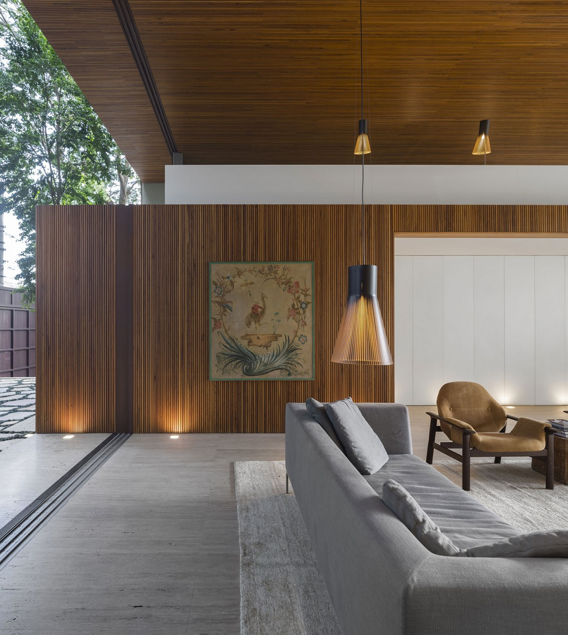 51 Modern Living Room Design From Talented Architects: Tetris House: A Creatively Organized Modern Brazilian Home