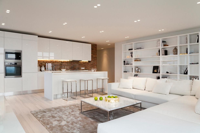 Shiny White Cabinets Interior Design Ideas
