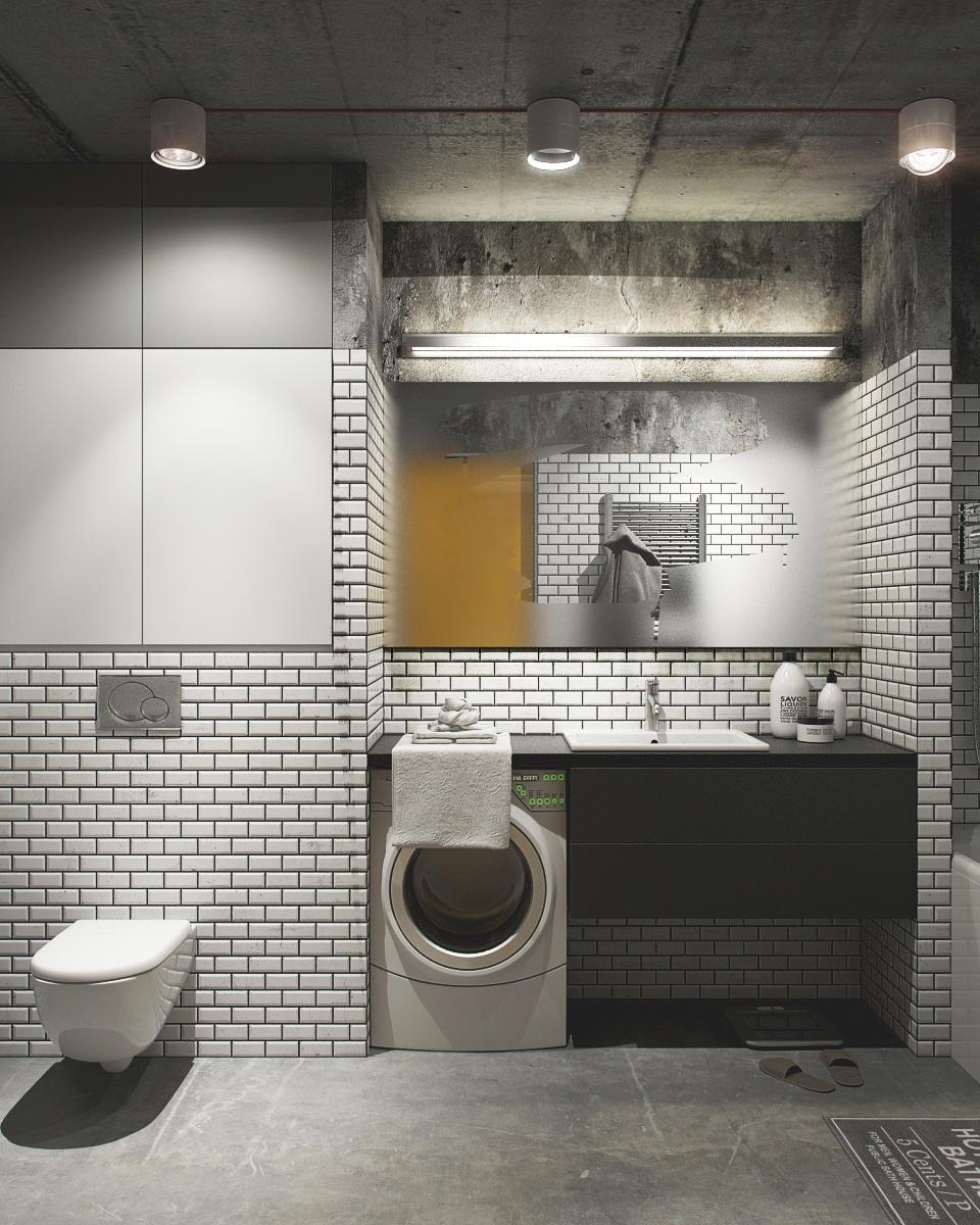 Concrete Tile Home Ideas: 2 Creative Apartments Featuring Whimsical Art