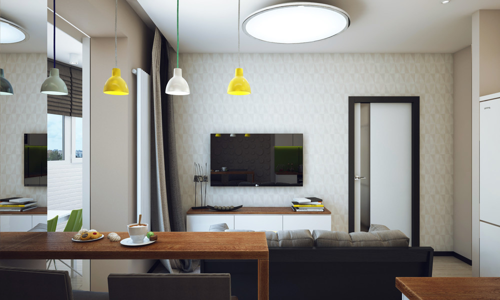 Minimalist 1 Bedroom Apartment Designed, Furniture For 1 Bedroom Apartment