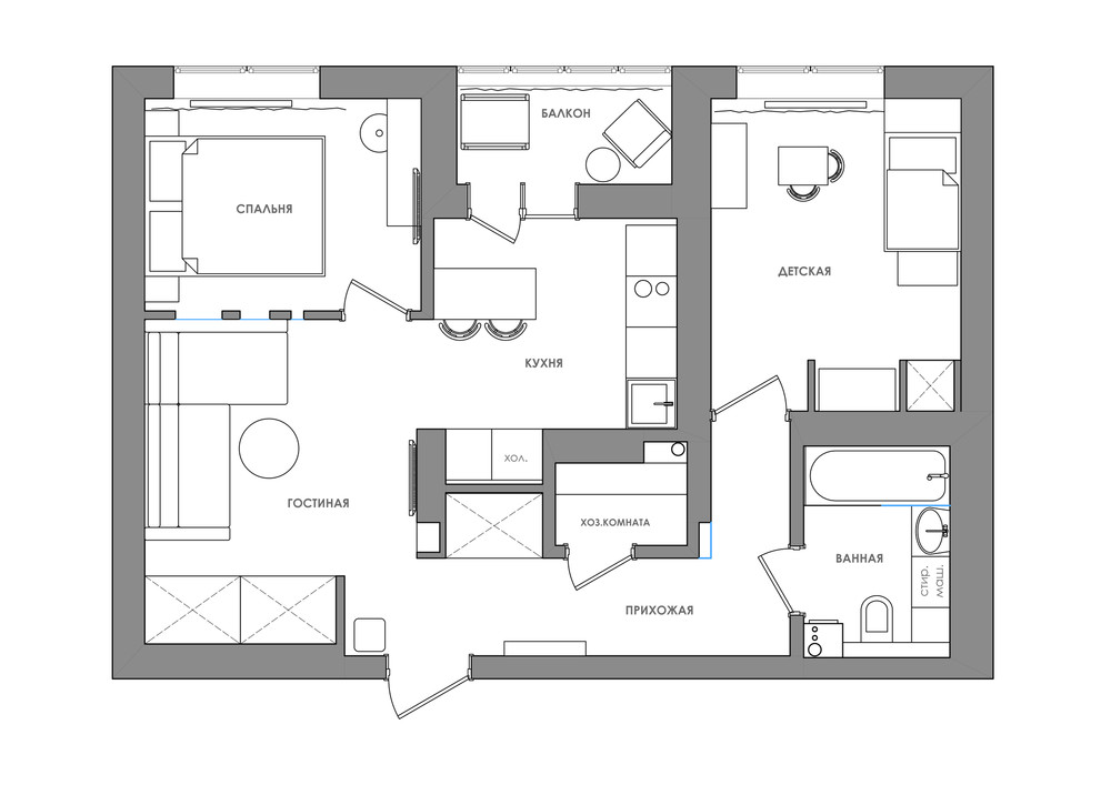 Bright and compact 1 Bedroom Apartment For Young Family ...