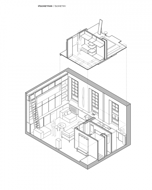 Loft Layout Ideas Design: A Super Small Apartment That Adapts To Its Owner's Needs