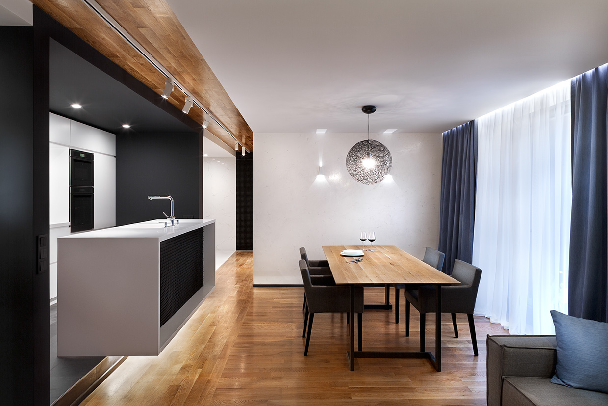 Three sleek apartments under 1500 square feet from all in - Modern small apartment design ...