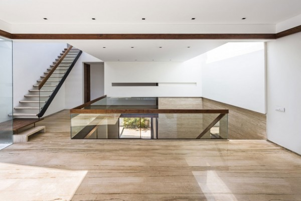 Modern home mezzanine a sleek modern home with indian sensibilities and an interior