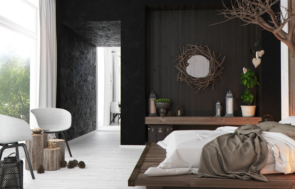 rustic bedroom daily interior design inspiration | rustic-modern-bedroom | Interior Design Ideas.