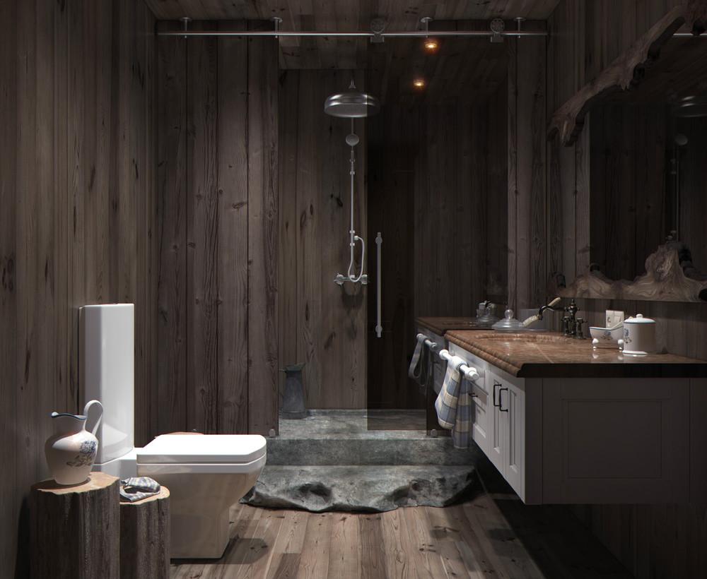 woodpanelbathroominterior design ideas