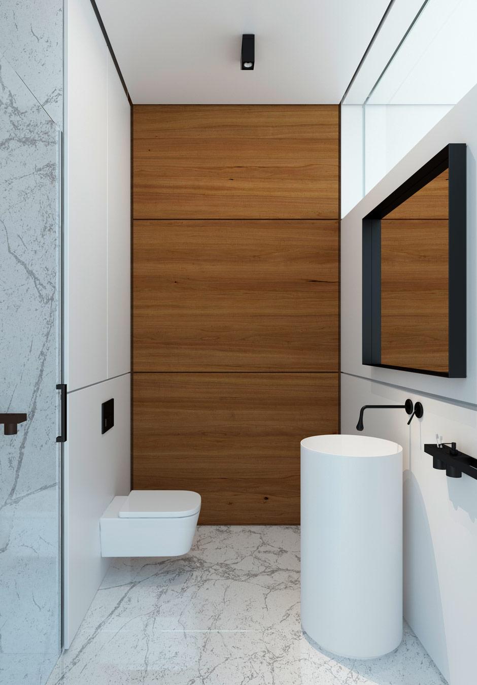 Wood Paneled Bathroom Interior Design Ideas