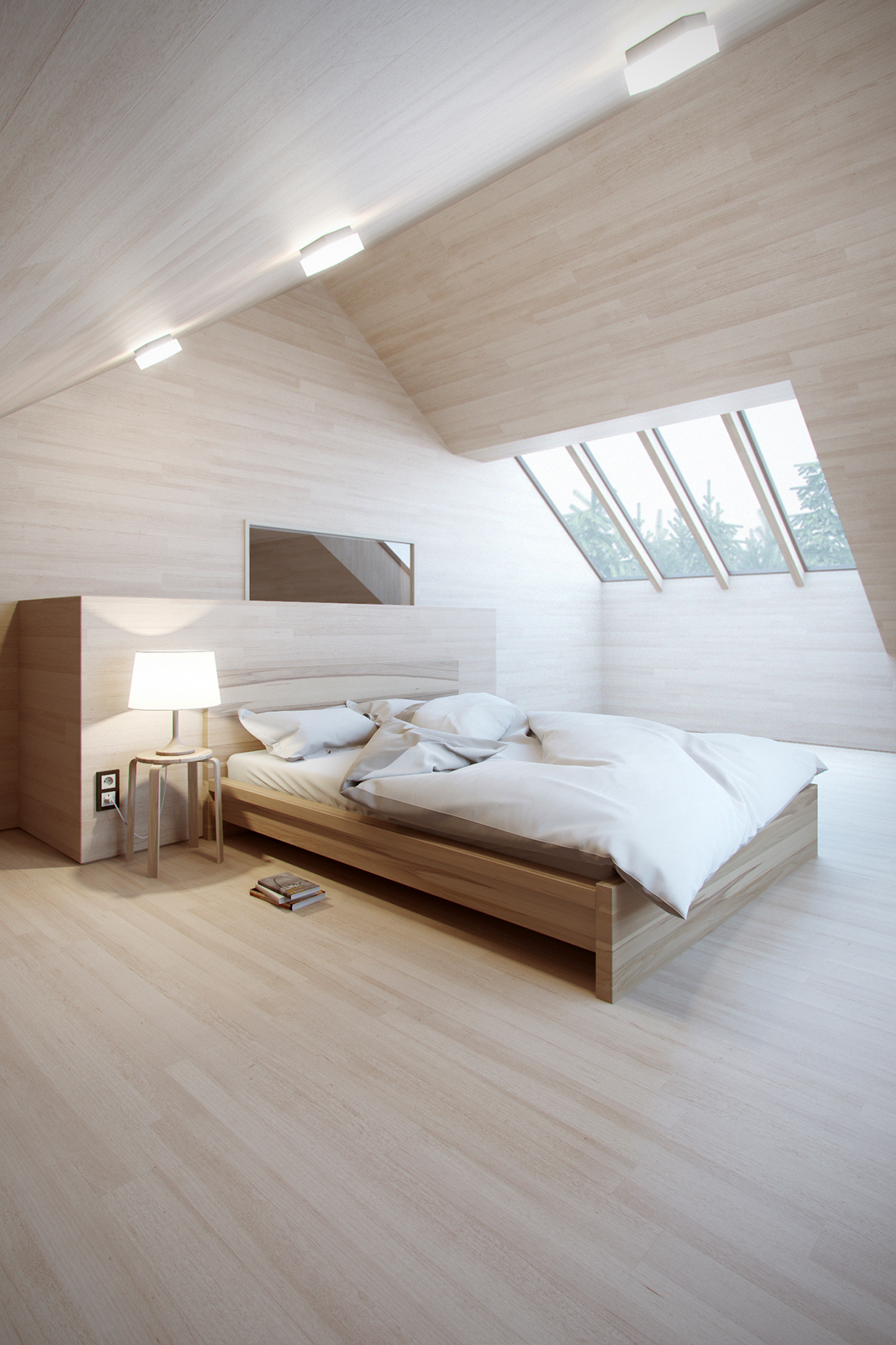All-natural-wood-bedroom