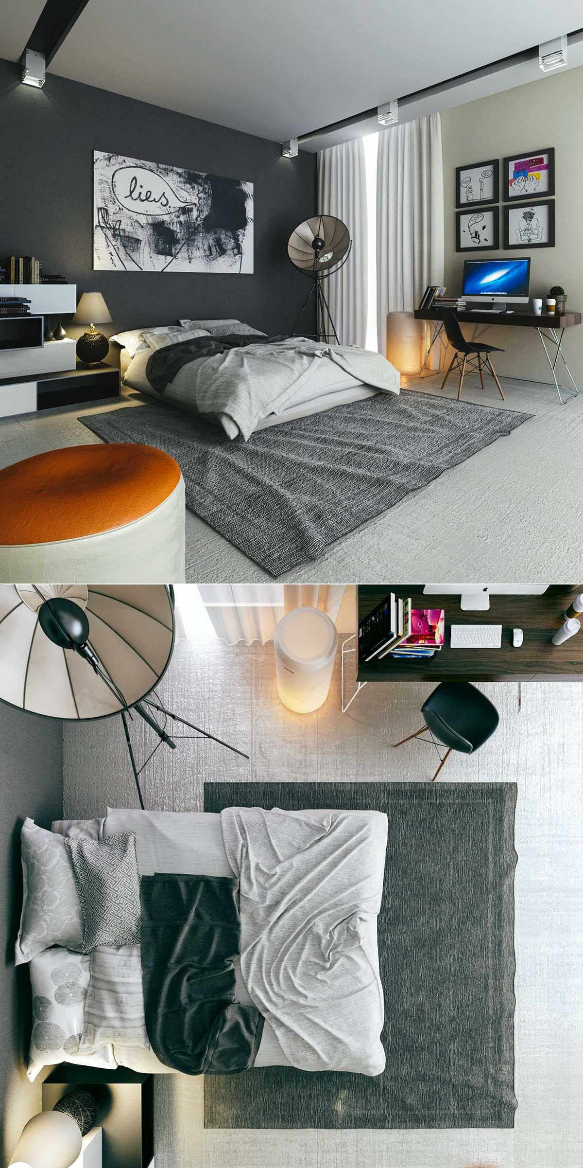 stunning men bedroom ideas | Beautiful Bedrooms Perfect for Lounging All Day