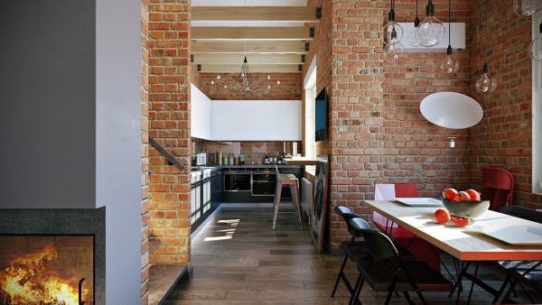 brick-dining-room