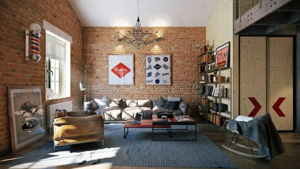 Brick loft 3 stylish industrial inspired loft interiors brick loft
