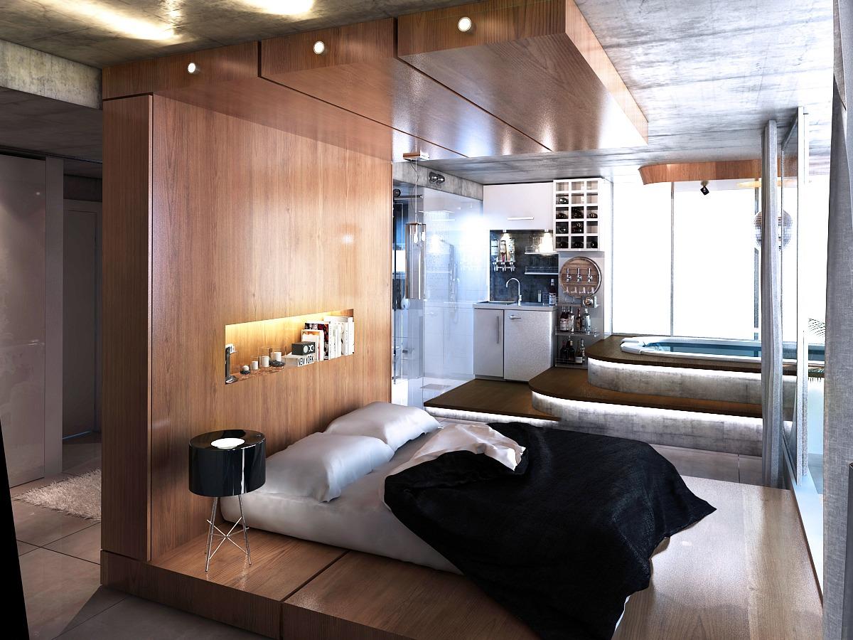Creative Wood Bedframe Interior Design Ideas