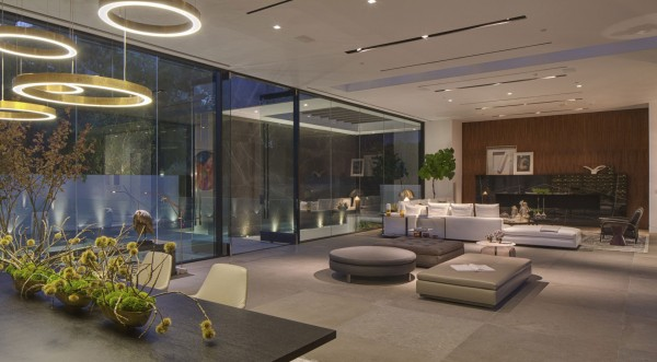 A Dramatic Glass Home Overlooking The L A Basin Interior Design Blogs