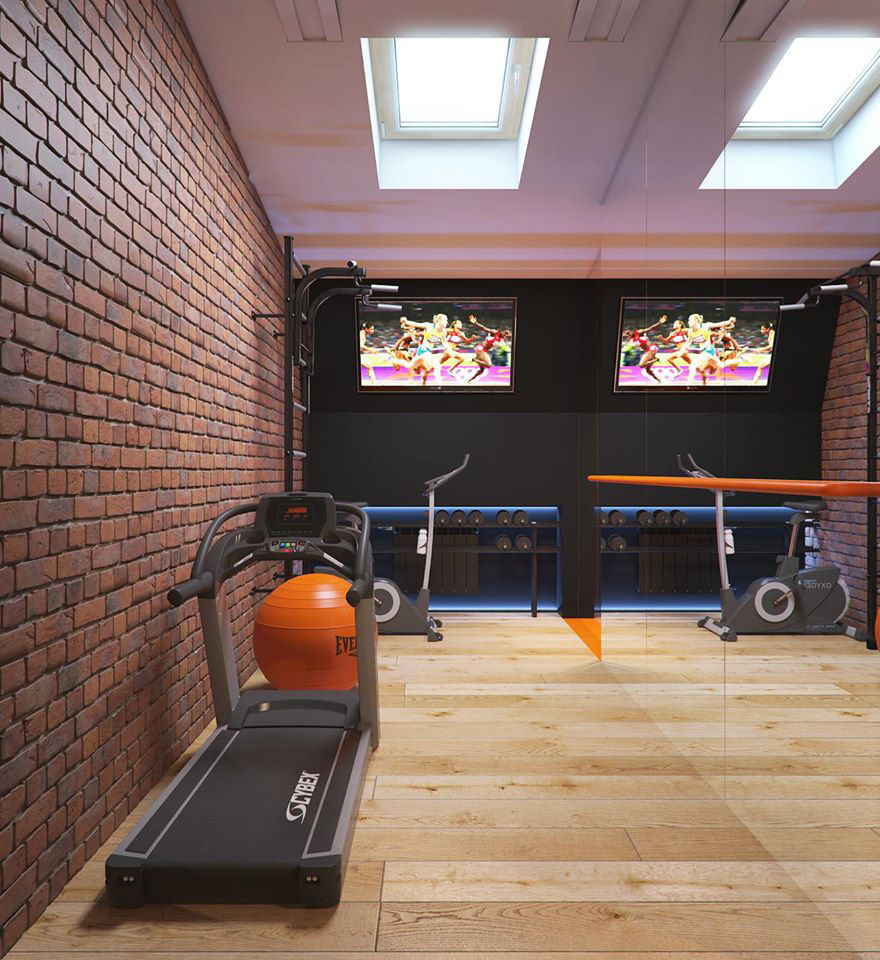 Home Gym Design: A 2 Bedroom Flat In Kiev With Sleek Contemporary Features