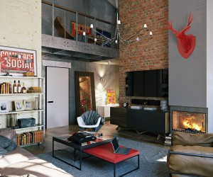 apartment design im industriellen stil loft, converted industrial spaces becomes gorgeous apartments, Design ideen