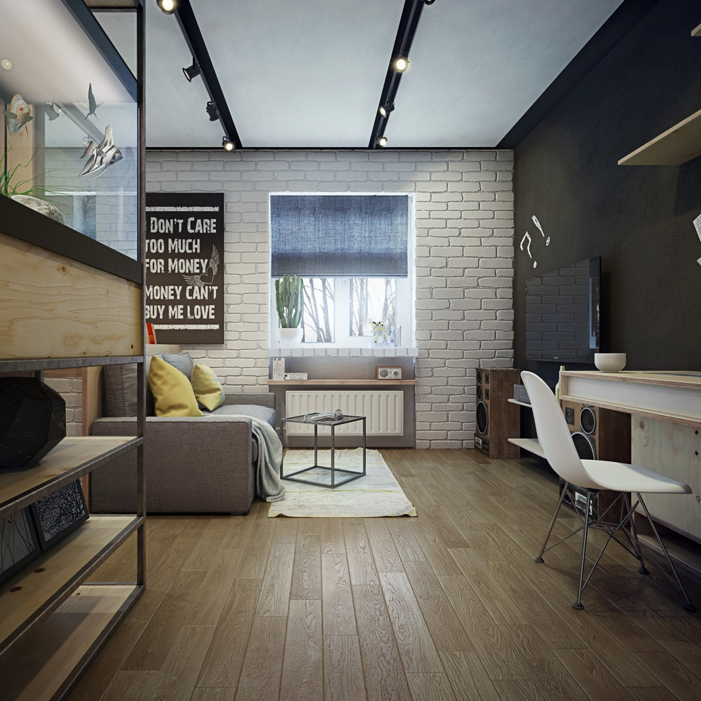 Small Apartment Design: Apartment Designs For A Small Family, Young Couple And A