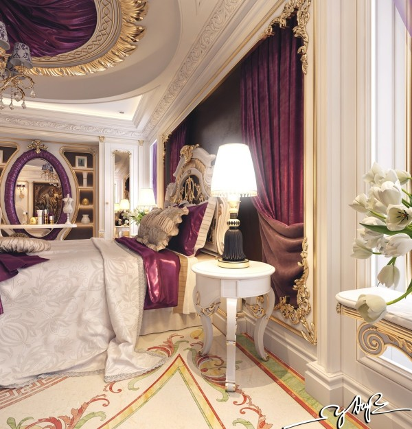 purple-satin-curtains