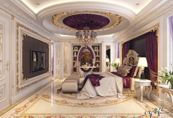 astounding luxury purple bedroom idea | 8 Luxury Bedrooms In Detail