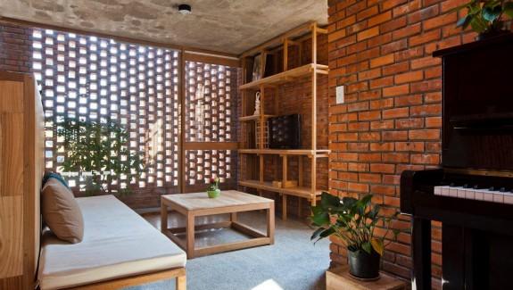 Exposed Brick Wood Panelling