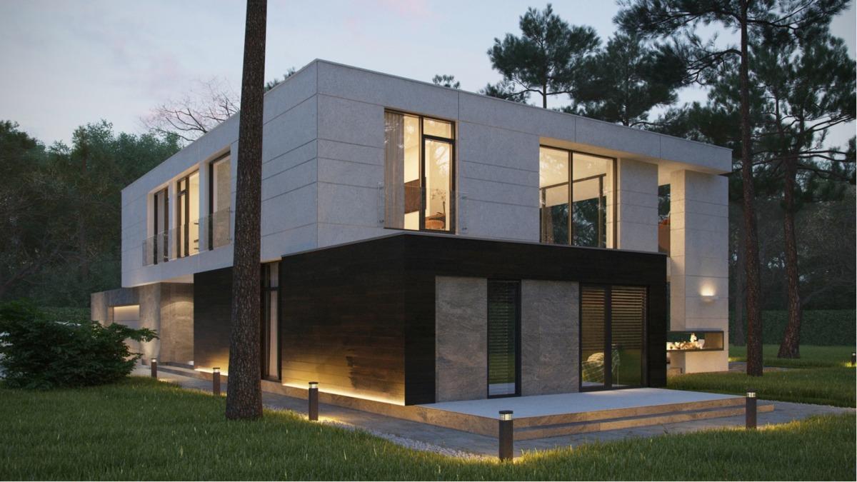 Two Story Box Home Interior Design Ideas