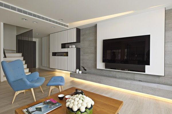 Using a very open design each space is designed to flow seamlessly into the other
