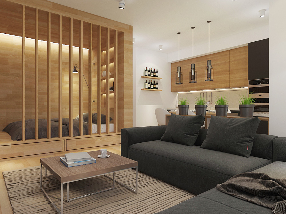 small smart studios with slick simple designs. Black Bedroom Furniture Sets. Home Design Ideas