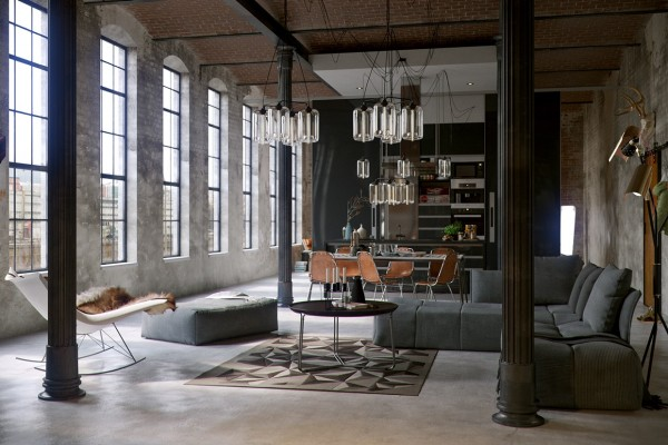 Converted Industrial Spaces Becomes Gorgeous And Spacious Apartments