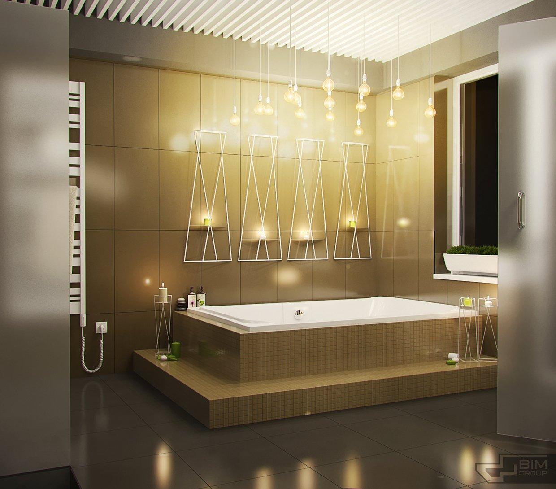 Creative Bathroom Lighting Interior