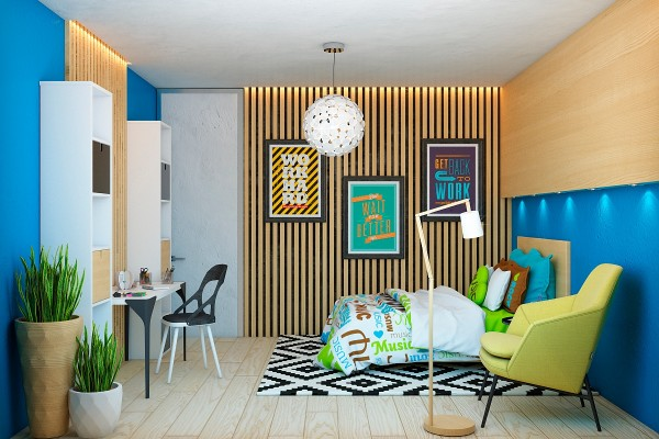 Creative wood paneling wood slats add texture and warmth to these homes creative wood